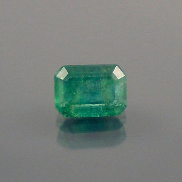 Emerald: 0.70ct Green Emerald Shape Gemstone, Natural Hand Made Faceted Gem, Loose Precious Beryl Mineral, Cut Crystal Jewelry Supply 20076