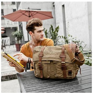 Military Canvas Messenger Bags