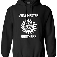 Supernatural hoodies men  fleece  winchester brothers fleece sweatshirt