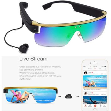 Smart Glasses with Camera 8M Pixels live streaming to Facebook and Youtube
