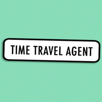 Time Travel Agent brooch