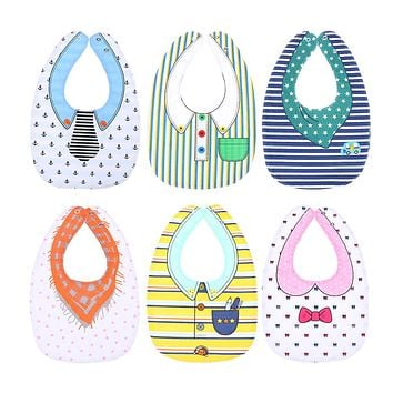 Unisex Baby Bibs Burp Bibs Double Animals Cartoon Pattern Infant Saliva Towel Four Layers Kids Feeding Waterproof Bibs Cloths