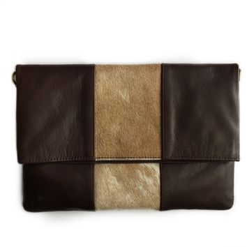 Lucy Brown Clutch Handbag