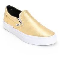 Vans Classic Gold Metallic Slip-On Shoes