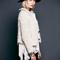 Free People My Wooly Sweater Jacket