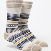On The Byas Camp Blanket Stripe Crew Socks - Mens Socks