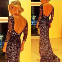 Fashion Prom Dress Ladies Sexy Sleeveless Backless Maxi Dress Formal Evening Party Date Cocktail Ball Gown Dress Bridesmaid Dress = 5841917633