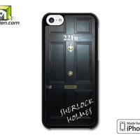 Sherlock Holmes Door iPhone 5c Case Cover by Avallen