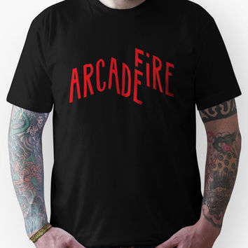 "Arcade Fire ""Logo"" Red Unisex T-Shirt"