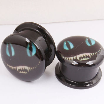 1 Pair Nightmare Before Christmas Ear Gauges Halloween Tunnels Gauges Flare Acrylic Body Piercing Jewelry 4mm--16mm Alternative Measures