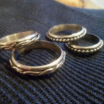 Authentic Navajo,Native American,Southwestern,sterling silver braided band rings. Made to order.Great for engagement or wedding rings.