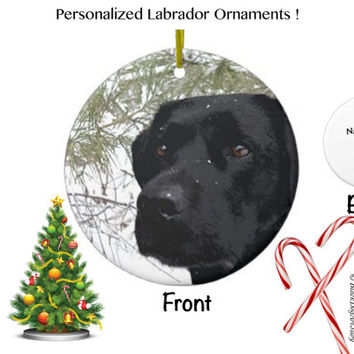 Black Lab Ornament - Black Lab Christmas - Black Lab Art 97 - Black Labrador Ornament - Lab Dog - Labrador Retriever - Black Lab Decor