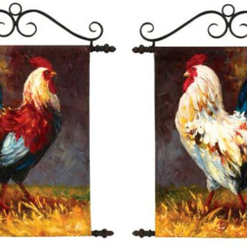 2 Wall Arts - Roosters