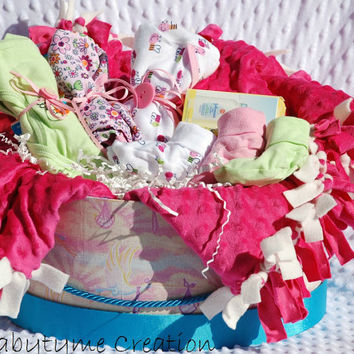 Baby Girl Gift Basket, Baby Gift Basket, Baby Shower Girl Gift