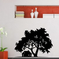 Wall Decal Vinyl Sticker House Tree Floral Design Decor Sb508