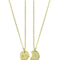 BEST FRIEND HEART NECKLACE SET