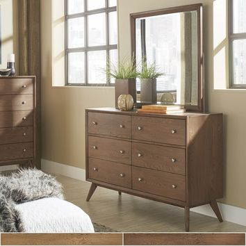 Sylvia Mid-Century Wood Dresser and Mirror by iNSPIRE Q Modern | Overstock.com Shopping - The Best Deals on Dressers