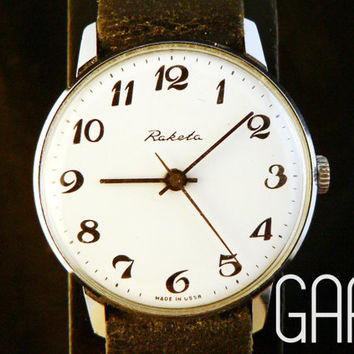 Vintage white Raketa watch