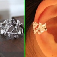 Rose On The Vine Ear Cuff (Single, No Piercing)