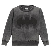 Little Eleven Paris Boys Charcoal Batman Sweatshirt