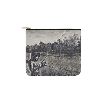 Levi Thang Fishing Design 14 Carry-All Pouch 6''x5''