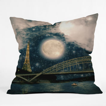 Belle13 Paris Romance Outdoor Throw Pillow