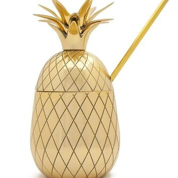 Large Pineapple Tumbler with Straw