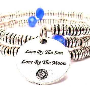 Live By The Sun Love By The Moon Curly Coil Wrap Style Bangle Bracelet