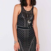 Buffalo Crochet Overlay Maxi Dress- Black