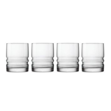 Bormioli Rocco Metropolitan 4-Piece 14.5-Inch Double Old-Fashioned Drinking Glass Set