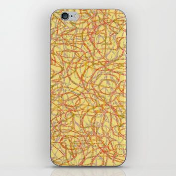 Yellow scribbled lines pattern iPhone & iPod Case by Steve Ball