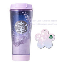 Starbucks KOREA 2017 Cherry Blossom LED Tumbler 355ml 1ea Cherry Blosso card SET