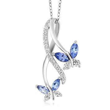 925 Silver Blue Tanzanite Necklace