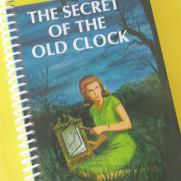 Journal Notebook NANCY DREW Mysteries storybook The Secret of the Old Clock by Carolyn Keene