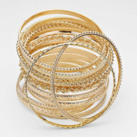Gold 17 Layered Bracelet Set