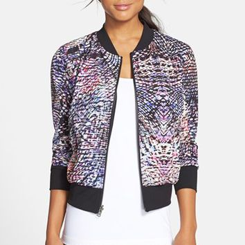 Women's Zella 'Street to Studio' Reversible Bomber Jacket,