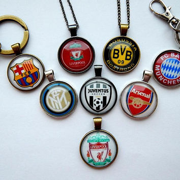 Football logo pendant keychain, Football simbol, Football team, FC football teams, Football patch, soccer team, european football fc