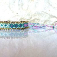 colorful bracelet with rainbow colored Swarovski - turquoise and purple bracelet