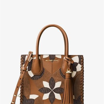 Mercer Floral Patchwork Leather Crossbody | Michael Kors