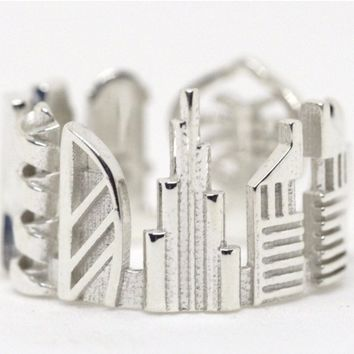 Dubai Cityscape Statement Ring