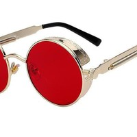Round Metal Sunglasses Steampunk Men Women Fashion