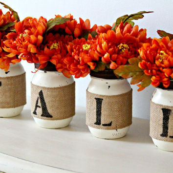 Thanksgiving Decor Table Mason Jars Rus