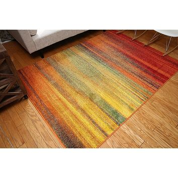 7002 Multi-Color Colorful Contemporary Area Rugs
