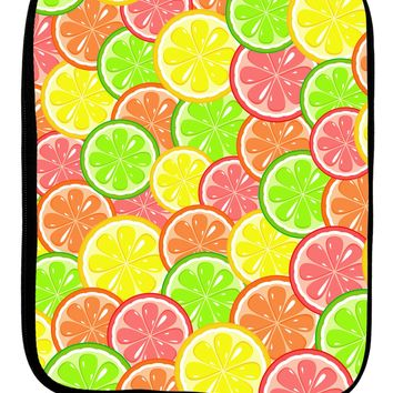 Colorful Citrus Fruits 9 x 11.5 Tablet  Sleeve All Over Print by TooLoud