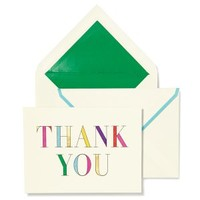 Kate Spade Rainbow Prism Thank you card set