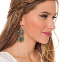 Heather Feather Earrings