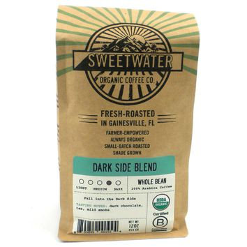 Dark Side Blend Organic Coffee 12oz Beans - Sweetwater Coffee