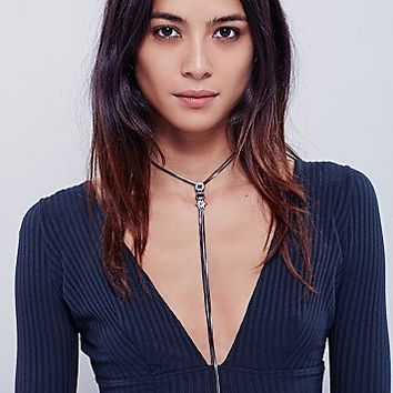 Free People Womens Sayna Delicate Chain Bolo