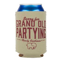 Rowdy Gentleman Sorry for Grand Old Partying Koozie BS066-BGE
