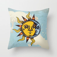 Double Face Throw Pillow by flamenco72